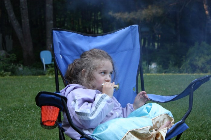 eating s'mores