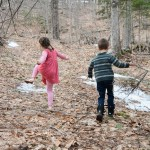Of Book Sales, Garden Cleanup and Adventures in the Woods