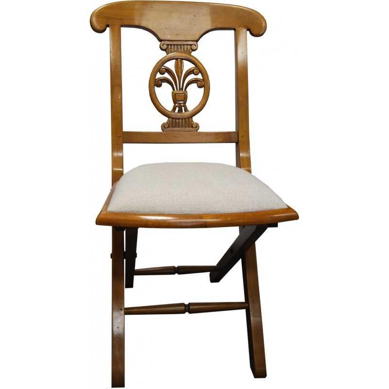 chaise pliante paloma tissu ecru ou cuir vintage everart e chax08t