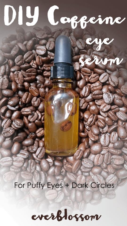 DIY caffeine eye serum made from coffee