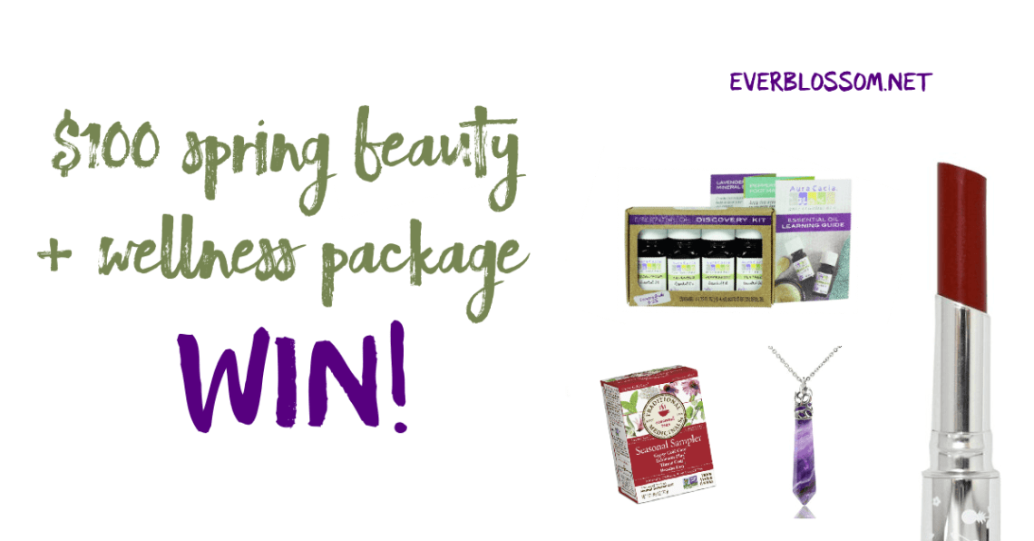 Enter to win over $100 worth of Spring wellness + beauty essentials!