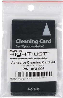Evolis ACL006 Adhesive Cleaning Card ACL006