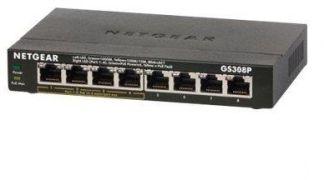 Netgear 8-PORT GB POE SWITCH FANLESS GS308P-100PES