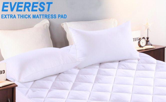 1 Queen Mattress Pad 15oz 60 X80 18 Depth 2 Pillow Protectors Encats