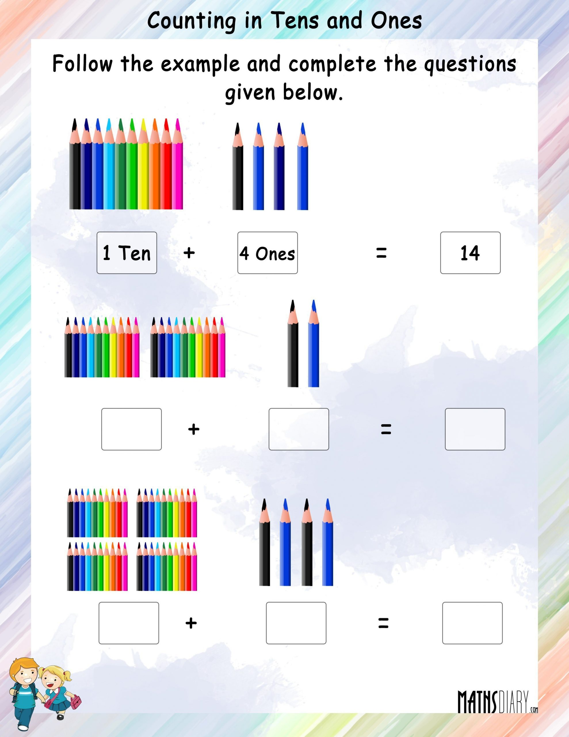 Counting By Tens Worksheet Kindergarten