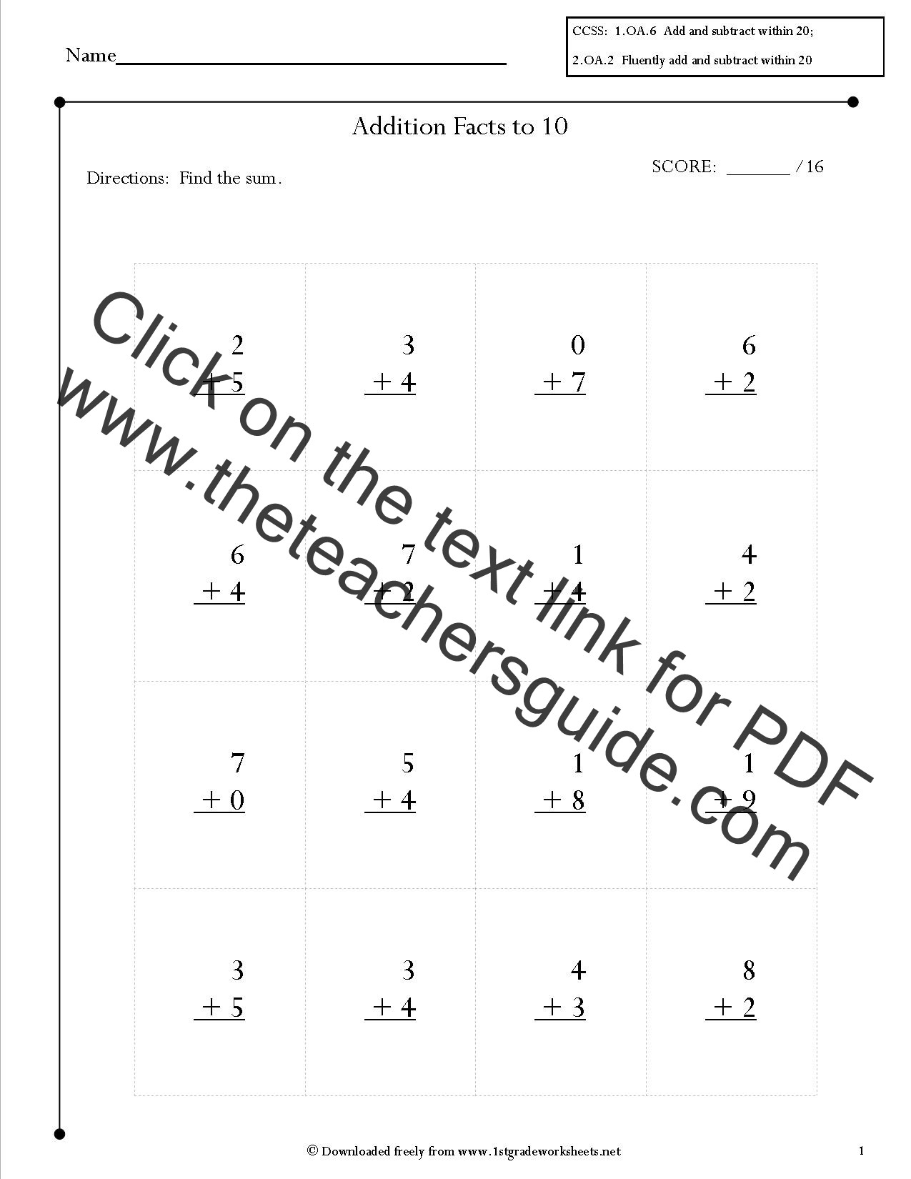 Free Printable Common Core Worksheets Worksheet For