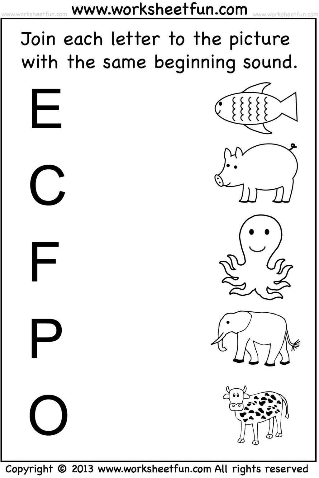 Letter L Preschool Worksheet