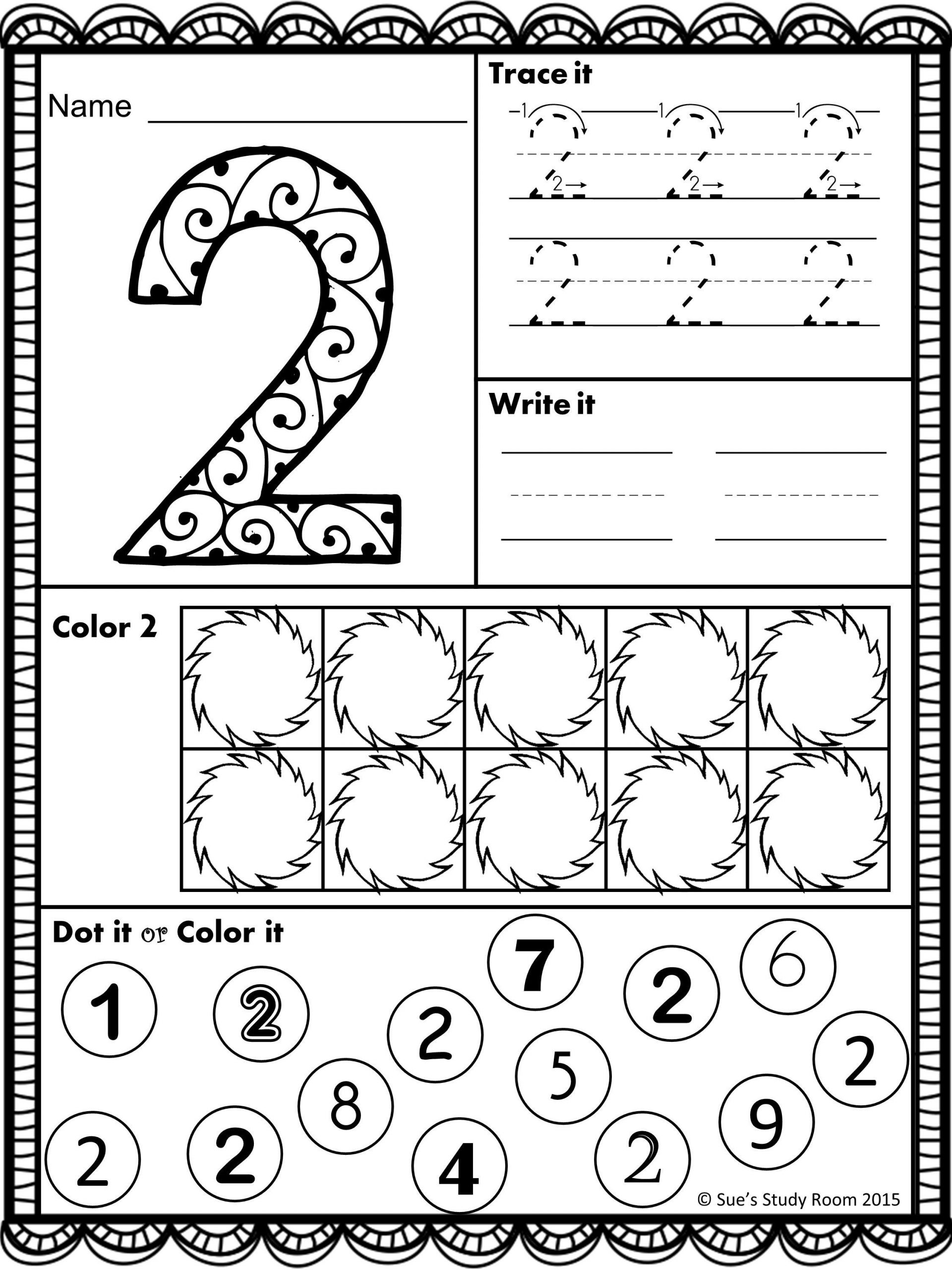 Number 20 Worksheet Preschool Worksheet For Kindergarten
