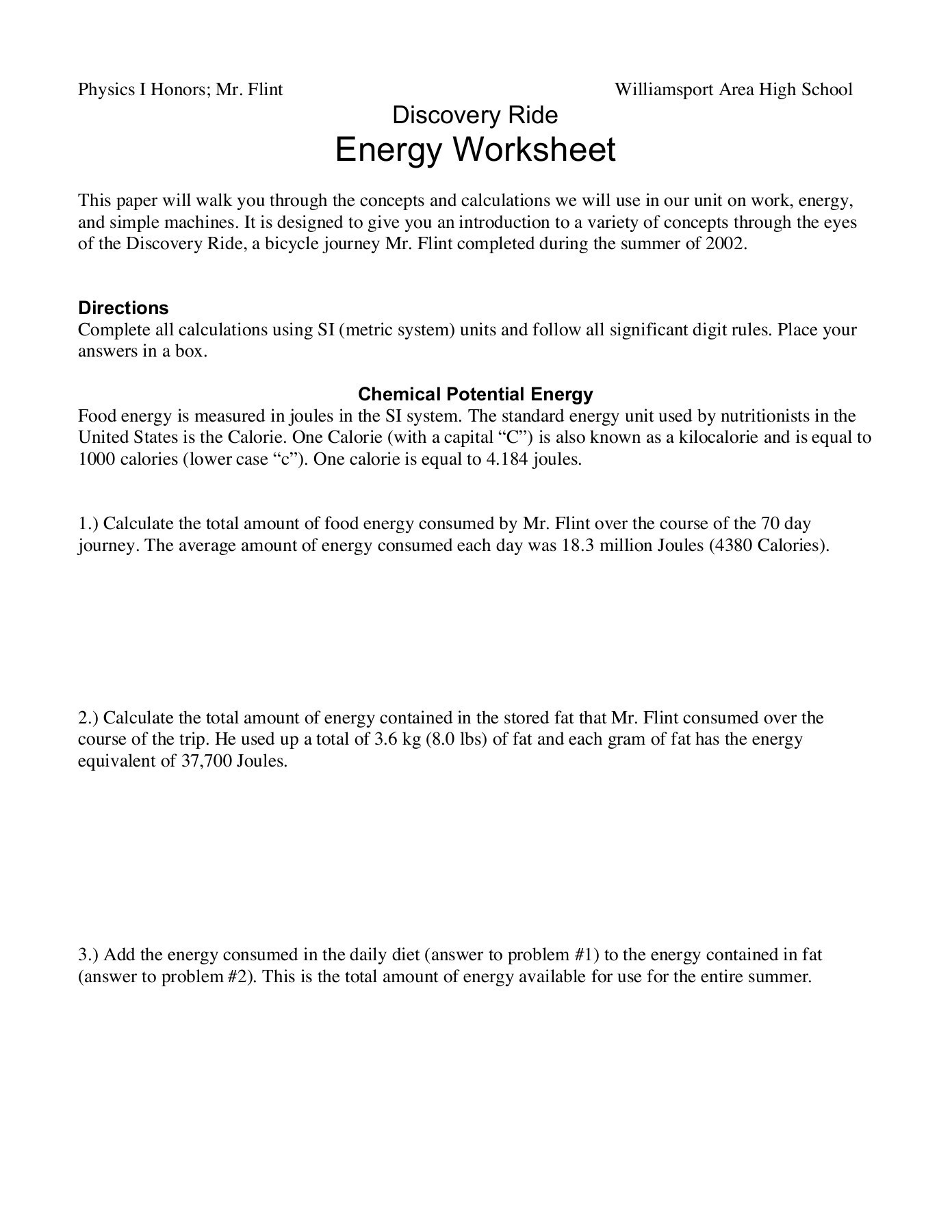 Simple Machines Worksheet High School Worksheet For