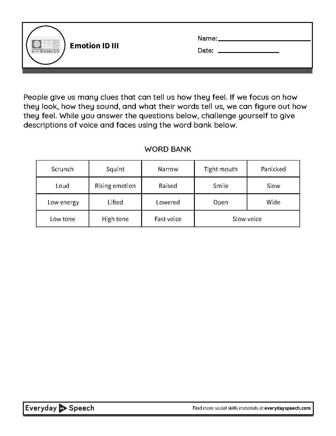 Tone Worksheet High School Worksheet For Kindergarten