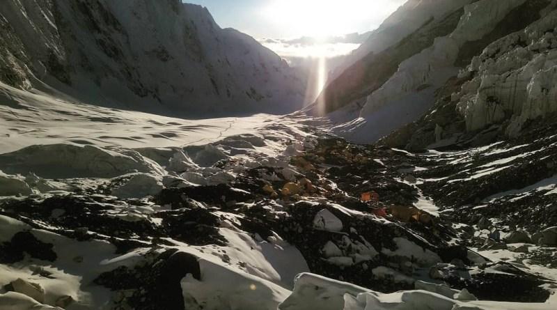 everest camp 2 high himalayan climbing