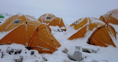 snowy tent everest camp 2