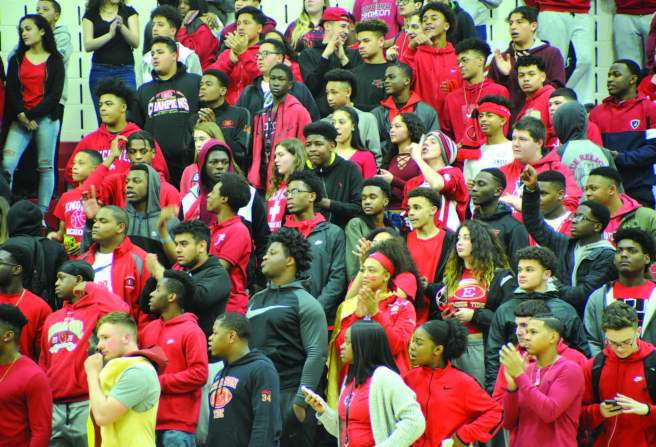 The Everett High School Gymnasium was packed for the Crimson Tide's victory in the opening game of the Div. 1 State Tournament