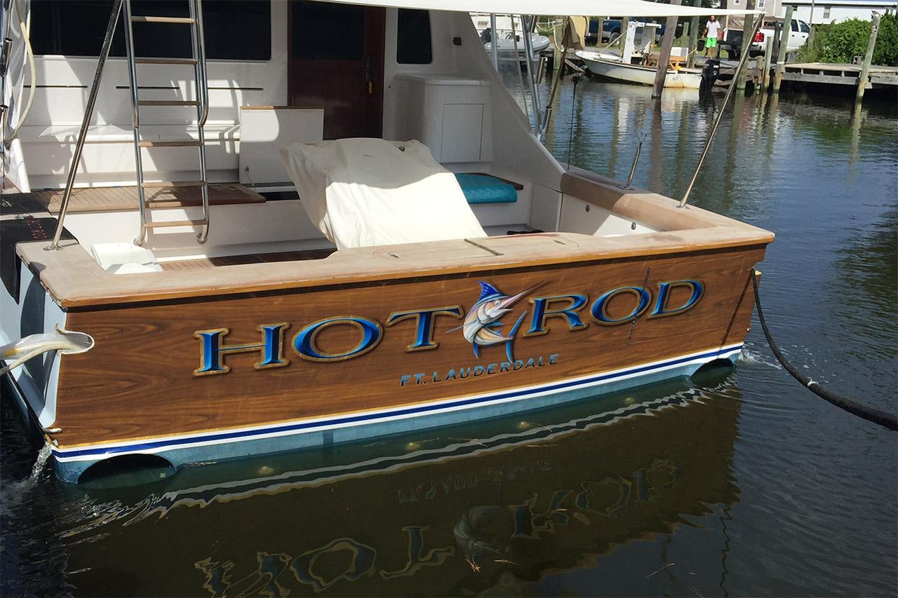 Hot Rod Ft Lauderdale Boat Transom BOATS TRANSOM