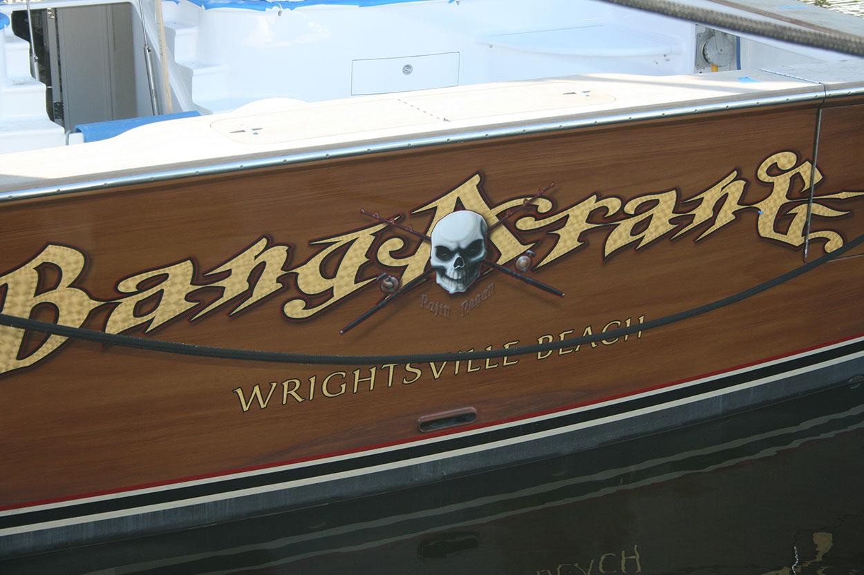 Bangarang Wrightsville Beach Boat Transom BOATS TRANSOM