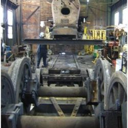 January 5, 2010.  Engine lifted and wheels removed.  Dan Pluta, photo.
