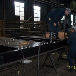 November 19, 2012: Work continues on the rebuild of the frame of #11's tender.    Photograph by Dan Pluta
