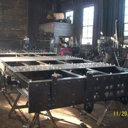 November 29, 2012: The rebuilding of the tender frame is nearly complete.