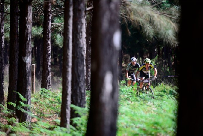 The Momentum Health Cape Pioneer Trek, presented by Biogen, features a mid-race time trial, though the forests of Saasveld outside George, on Stage Four. Photo by Zoon Cronje.