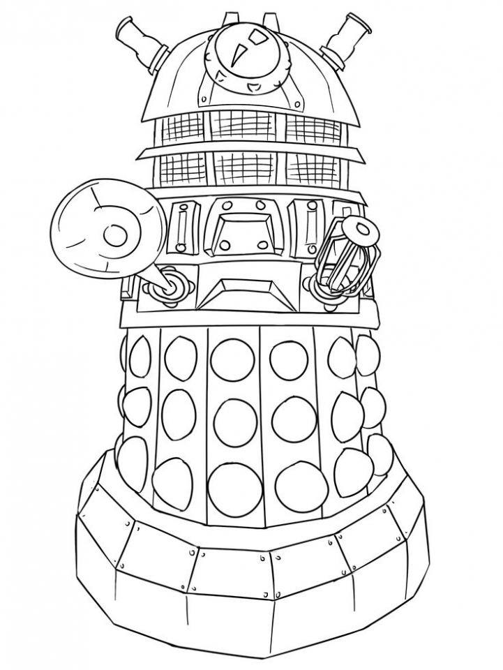 Children's Printable Doctor Who Coloring Pages   BTB4A