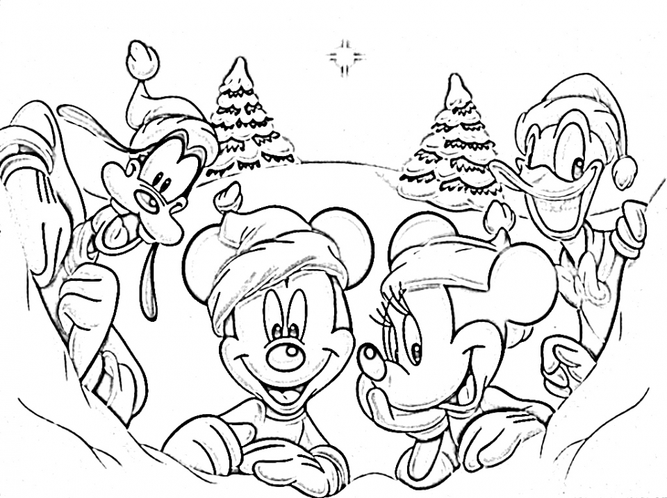 Disney Christmas Coloring Pages Online Printable   B6QSA