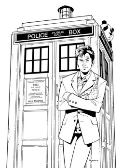 Doctor Who Coloring Pages Printable for Kids WY71R