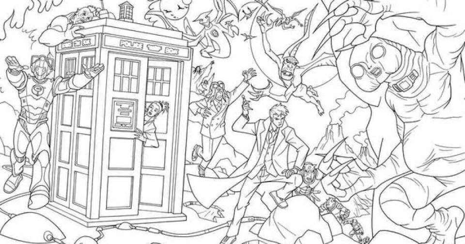 Doctor Who Coloring Pages to Print Online   625N6