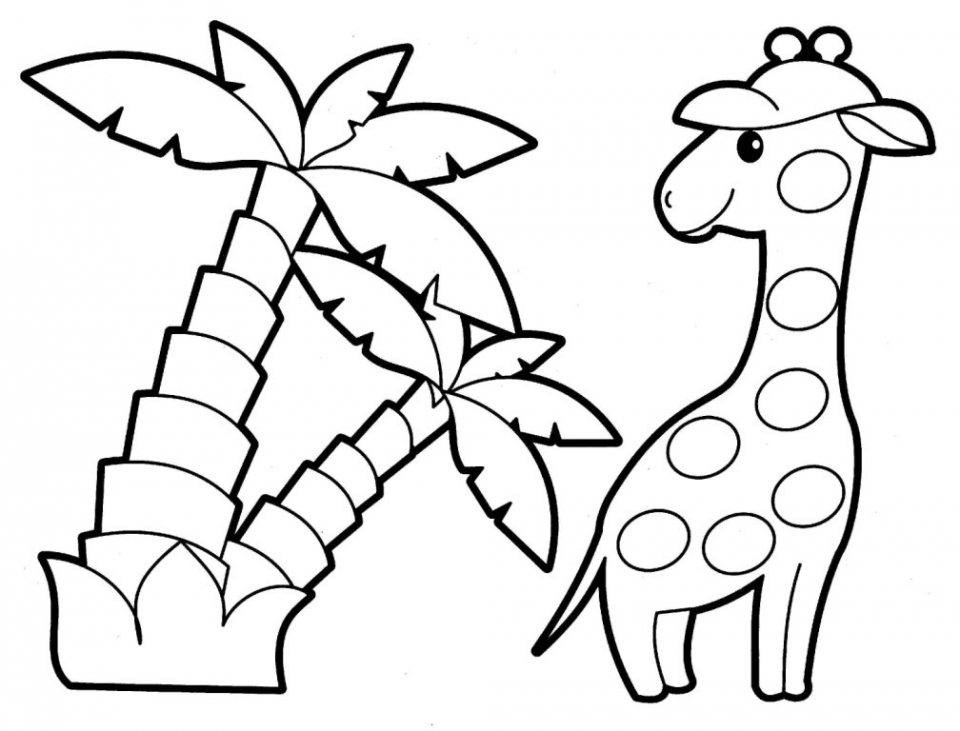 Easy Printable Animals Coloring Pages for Children   7U4LH