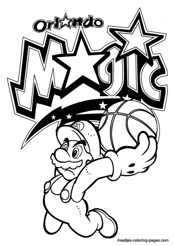Get This Easy Printable NBA Coloring Pages for Children
