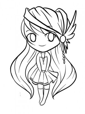 coloring pages chibi simple children