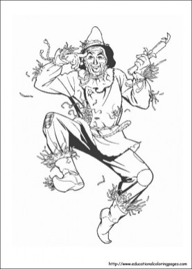 Kids' Printable Wizard Of Oz Coloring Pages LC75F