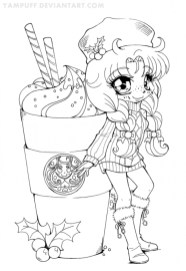 Online Chibi Coloring Pages for Kids OS92R
