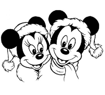 Online Disney Christmas Coloring Pages to Print B9149