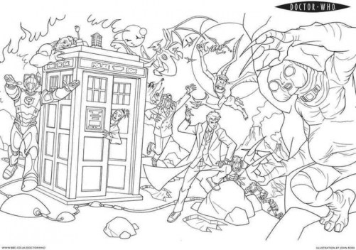 Online Doctor Who Coloring Pages for Kids OS92R