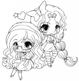 Printable Chibi Coloring Pages for Kids BV21Z