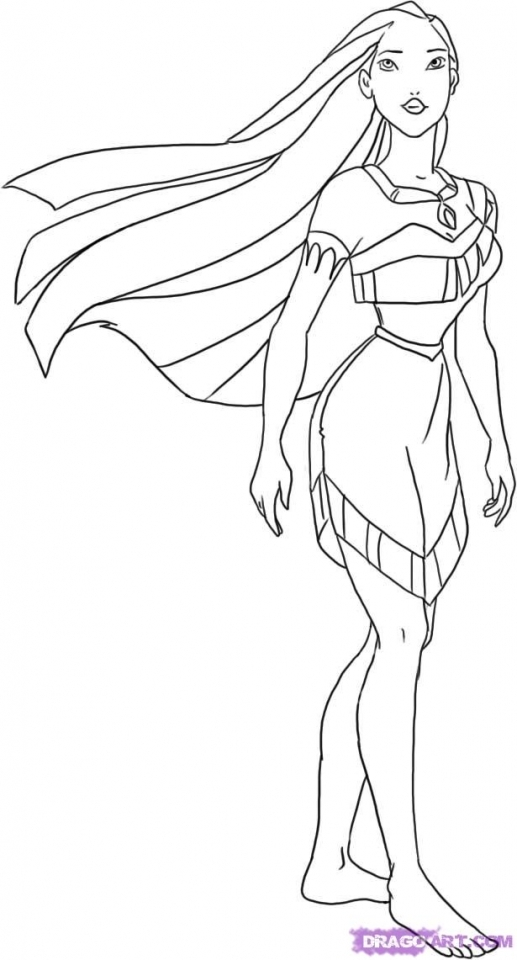 Printable Pocahontas Coloring Pages for Kids   BV21Z