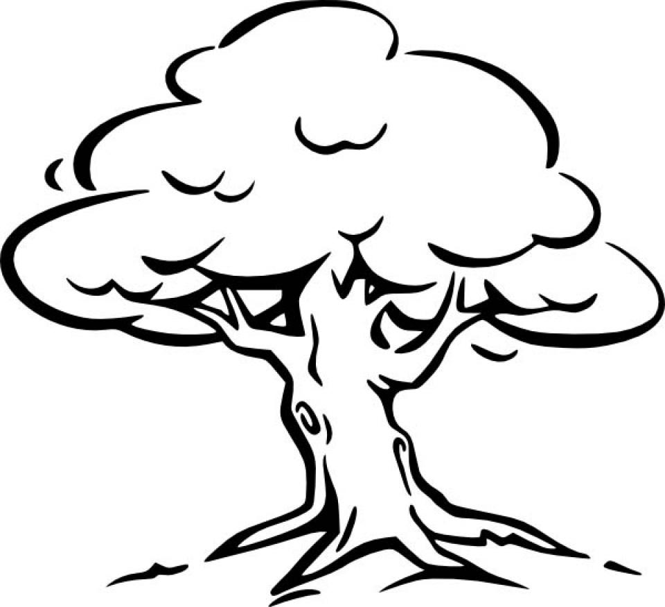 Get This Simple Tree Coloring Pages to Print for ...