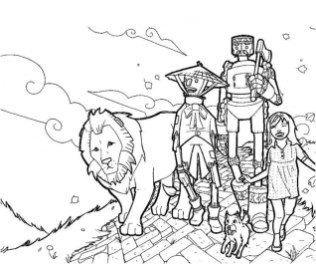 Simple Wizard Of Oz Coloring Pages to Print for Preschoolers 0VJOR