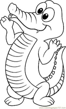 Alligator Coloring Pages to Print Online lj8rr