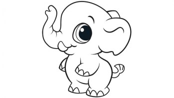 Baby Elephant Coloring Pages 36903