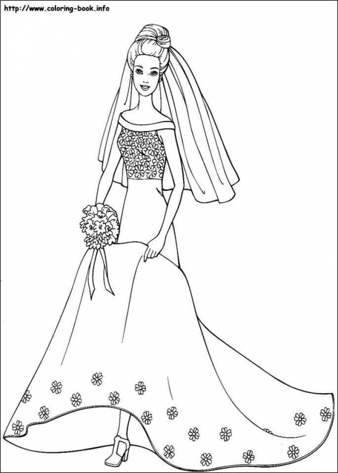20+ Free Printable Barbie Coloring Pages - EverFreeColoring.com