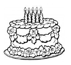 Birthday Cake Coloring Pages Free Printable 9466