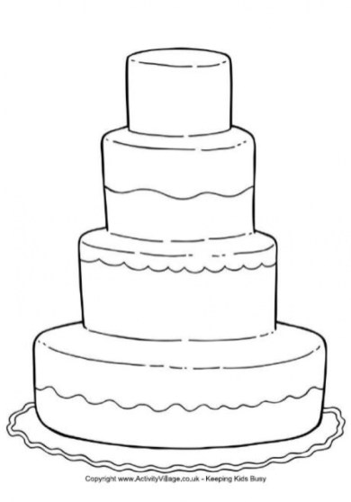 Cake Coloring Pages Free for Kids e9bnu