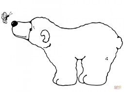 Children's Printable Polar Bear Coloring Pages 5te3k