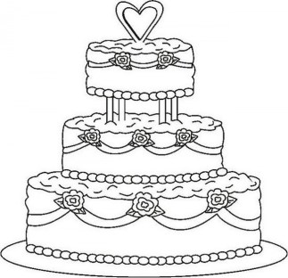 Easy Cake Coloring Pages for Preschoolers 9iz28