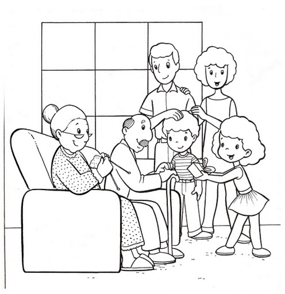 Get This Easy Family Coloring Pages for Preschoolers 9iz28