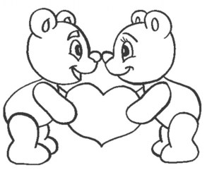 Easy Preschool Printable of I Love You Coloring Pages qov5f