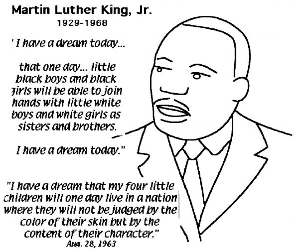 Easy Printable Martin Luther King Jr Coloring Pages for Children   la4xx