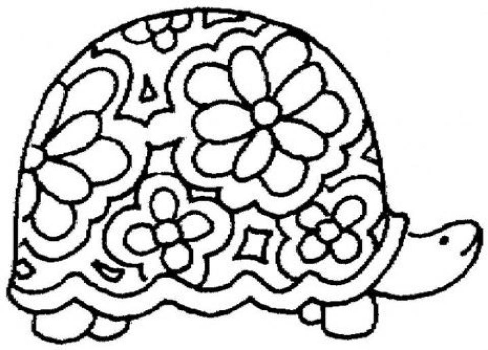 Get This Easy Printable Turtle Coloring Pages for Children ...