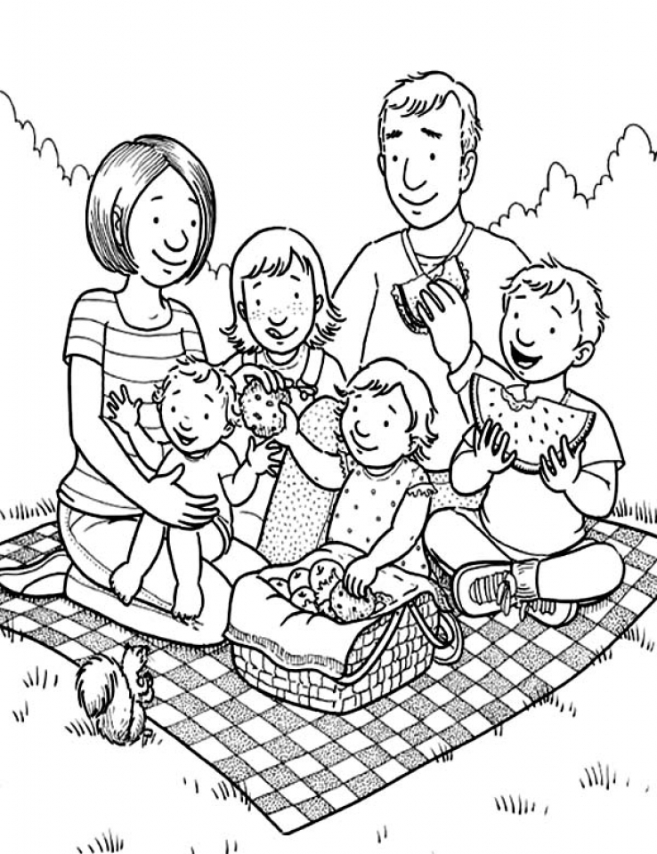 20+ Free Printable Family Coloring Pages - EverFreeColoring.com